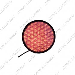 Red LED traffic light 8 W 220 V. - d. 214 mm. (200)