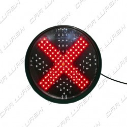 Red Cross Led traffic light 6W 220V. - d. 214 mm. (200)
