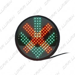 Green Arrow / Red Cross Led traffic light 9 / 8W 220 V. - d. 214 mm. (200)