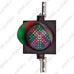 Complete adjustable traffic light Freccia Verde / Red Cross led 9/8 W 220 V. - dim. 25x25 cm.