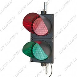 Adjustable double traffic light Green led / Red light led 9/8 W 220 V. - dim. 50x25 cm
