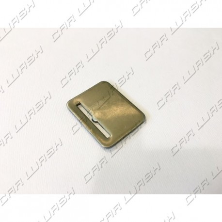 Nickel-plated iron token diameter 26mm with 1 + 0 neutral slots