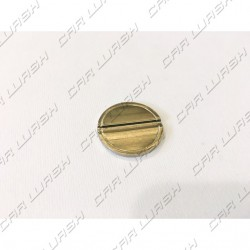 Nickel-plated iron token diameter 26mm with 1 + 0 neutral grooves