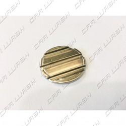 Gettone ferro nichelato diametro 26mm con cave 3+0 neutro