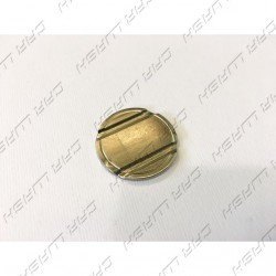 Gettone ferro nichelato diametro 27,8mm con cave 2+1 interasse 15mm neutro