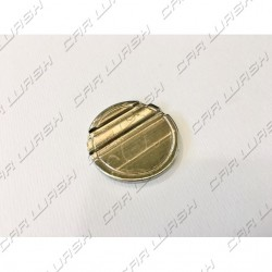 Nickel-plated iron coin diameter 27.8mm with 2 + 0 neutral side slots
