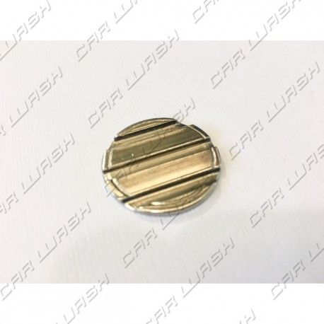Nickel-plated iron token diameter 27.8mm with 3 + 0 neutral grooves