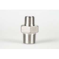 Reduced M3 / 8 M1 / 4 stainless steel nipple connection