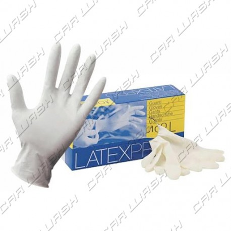 Pack of 100 latex gloves size L