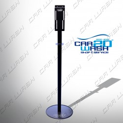 Sanitizing floor stand