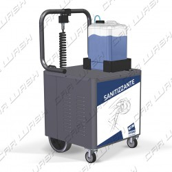 Sanispray wheeled sanitizing machinery