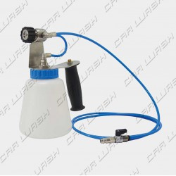 Compressed air sanitizing gun equipped with tank
