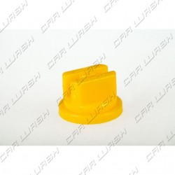 Flat Head atomizer nozzle in yellow plastic