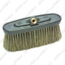 Natural bristle brush 9 cm with support