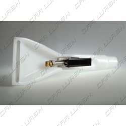 Interiors cleaner nozzle with tap