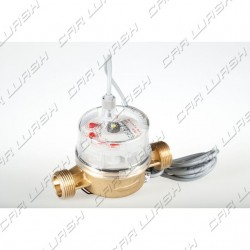 Flow meter 35 pulses / l hot water 1/2 ""