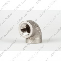 Curved 90 FF1 / 4 stainless steel fitting