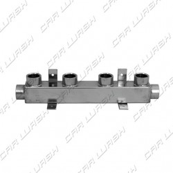 1/2 stainless steel manifold 4 outlets 2 inputs
