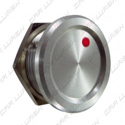 Aluminum overflow button with red led