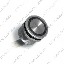 Aluminum overflow button with multicolored led ring