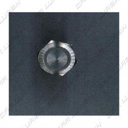 Vandal Proof Button aluminum d 19 mm blue LED ring