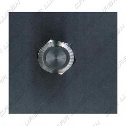 Vandal Proof Button aluminum d 19 mm blue LED ring