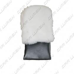 White car wash glove